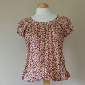 [Harve Benard] Floral Cap Sleeve Top